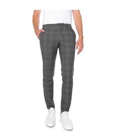 Selected Homme Broek SLHSLIM-MYLOLOGAN GRY BRW CHK TRS B